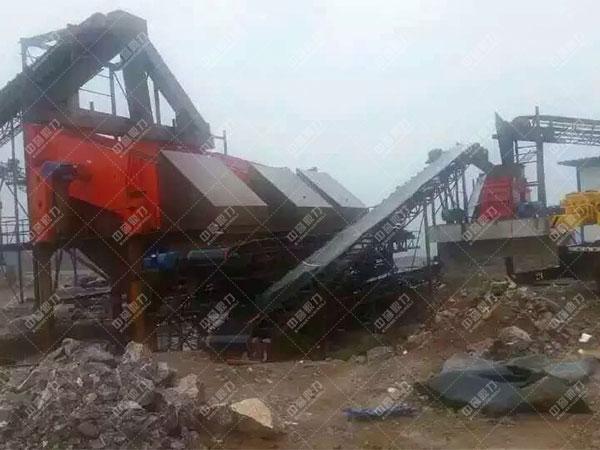 安徽滁州凤阳时产1200吨石料生产线客户案例