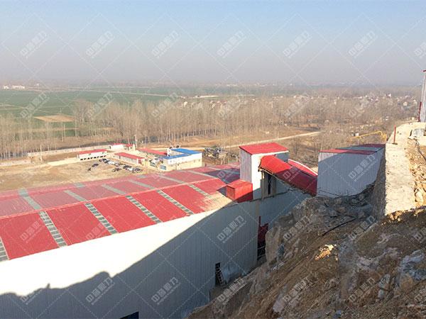 安徽雷鸣矿山萧县王寨镇王山窝时产1500吨骨料生产线客户案例