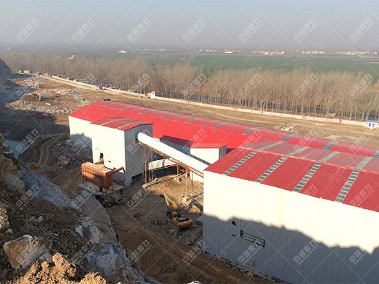 安徽雷鸣矿山萧县王寨镇王山窝时产1500吨骨料生产线