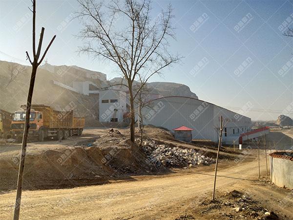 安徽雷鸣矿山萧县王寨镇王山窝时产1500吨骨料生产线客户案例3