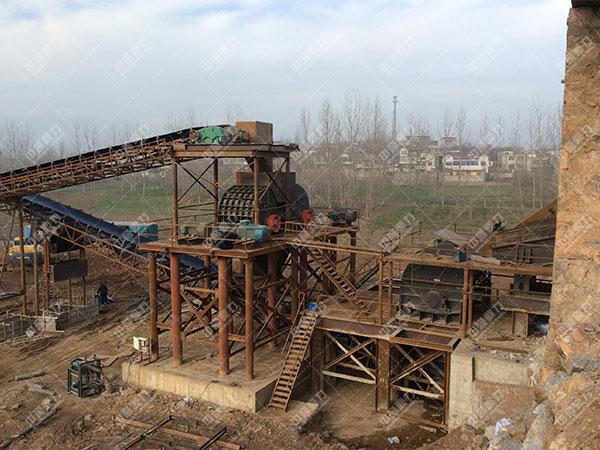 安徽蚌埠怀远时产1500吨砂石骨料生产线2