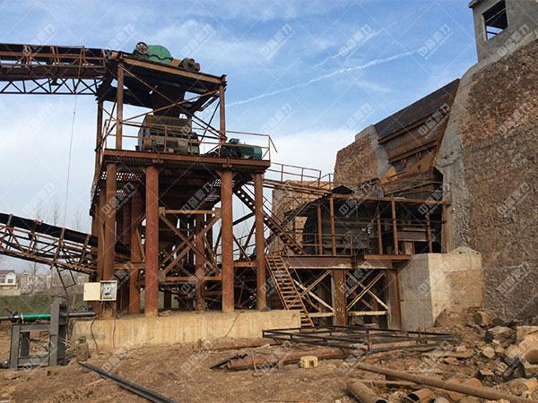 安徽蚌埠怀远时产1500吨砂石骨料生产线客户案例2