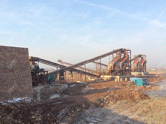 安徽蚌埠怀远时产1500吨砂石骨料生产线