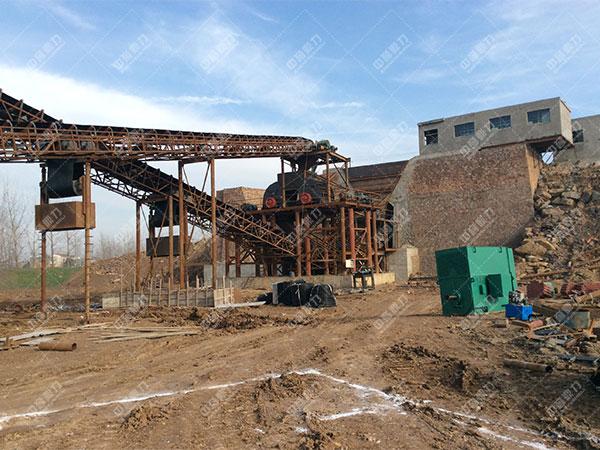 安徽蚌埠怀远时产1500吨砂石骨料生产线客户案例