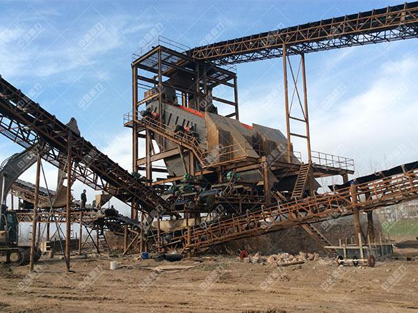 安徽蚌埠怀远时产1500吨砂石骨料生产线客户案例3